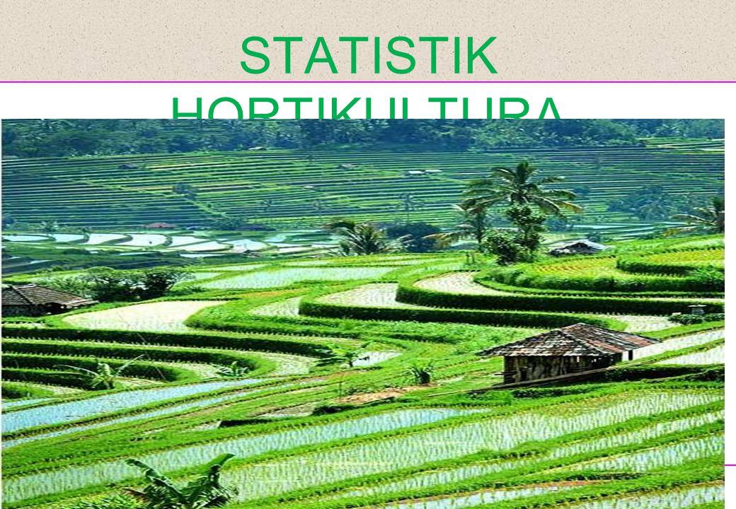 Disampaikan pada Sosialisasi Hasil PUT09 STATISTIK HORTIKULTURA