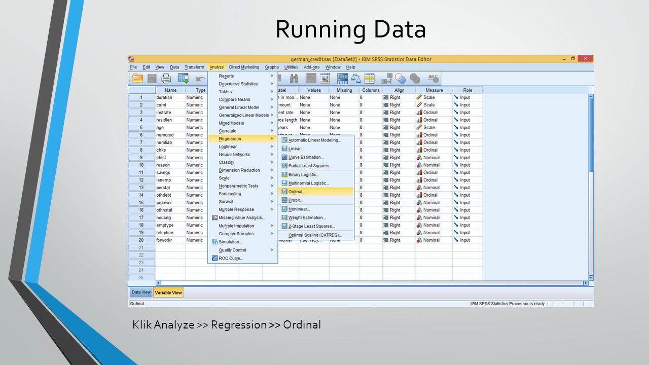 Marginal Percentage bernilai 100% menunjukkan semua data valid digunakan.