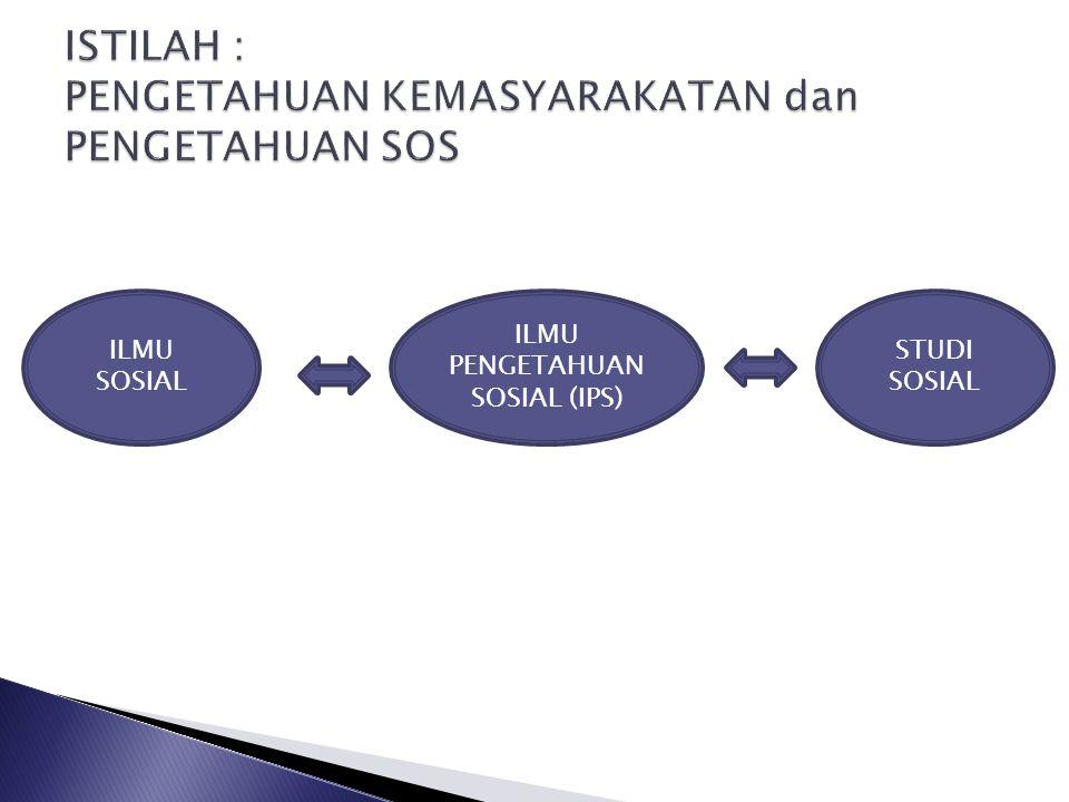 ILMU SOSIAL ILMU PENGETAHUAN SOSIAL (IPS) STUDI SOSIAL