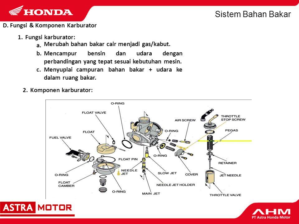 Sistem Bahan Bakar E.Jenis Sistem Karburasi 1.