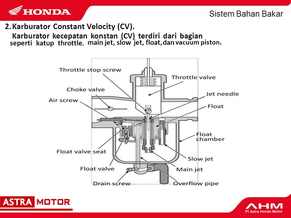 Sistem Bahan Bakar 3. Throttle Body (PGM-FI) Dibahas tersendiri secara khusus