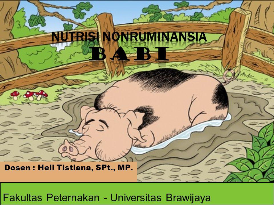 Fakultas Peternakan - Universitas Brawijaya Dosen : Heli Tistiana, SPt., MP.