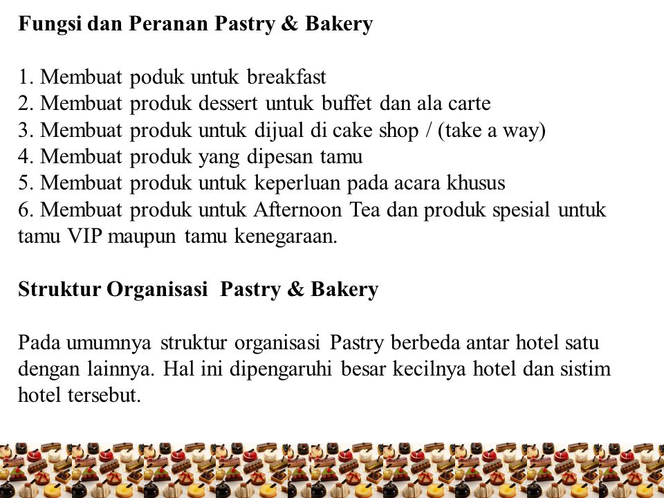 Ex.Pastry Chef (Head Pastry Cook) Sous Chef Pastry (Asst.