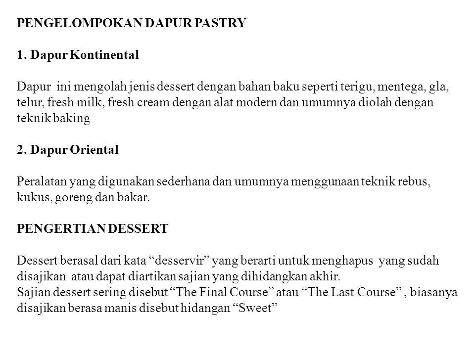 PENGELOMPOKAN DAPUR PASTRY 1.