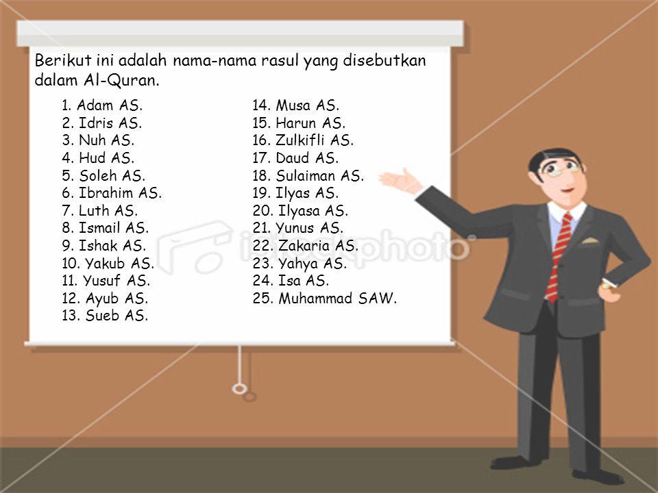 Berikut ini adalah sifat-sifat utama yang dimiliki oleh para Rasul-Rasul Allah swt.