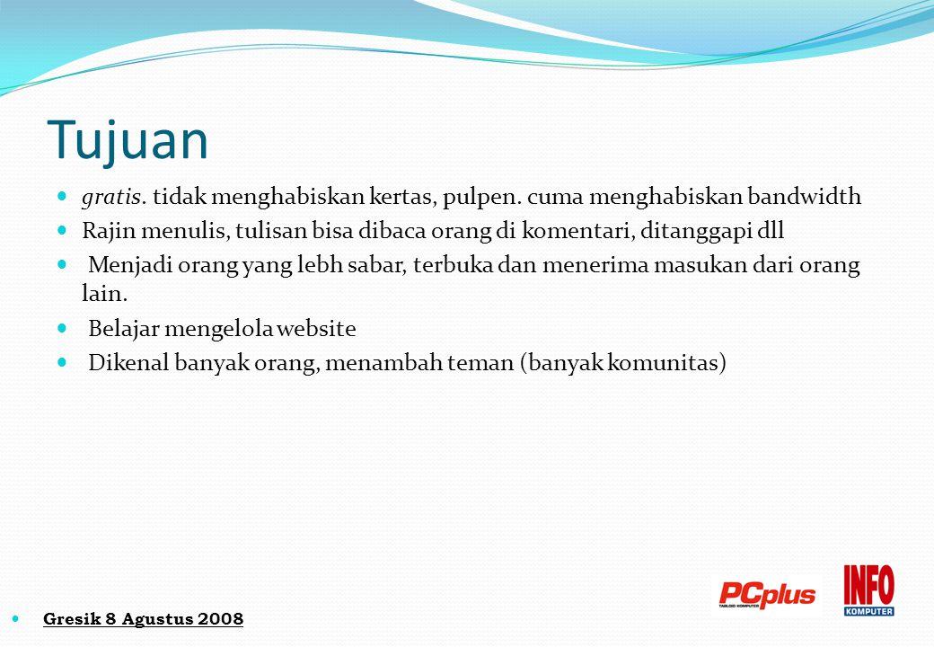 Kerugian Blog Dimarahi orang tua/pacar, uang jajan internet jadi lebih banyak Sakit mata karena radiasi monitor Sakit Maag karena lupa makan dll