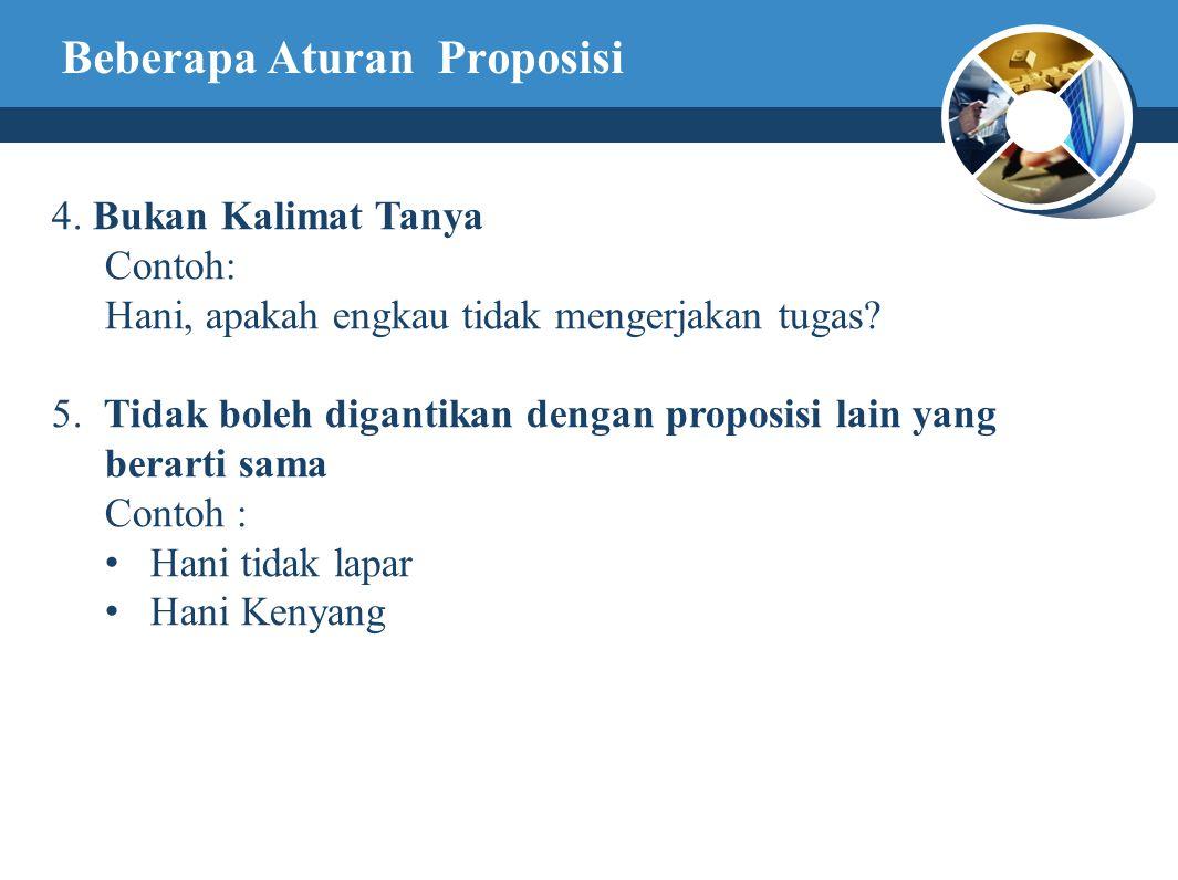 Beberapa Aturan Proposisi 4.