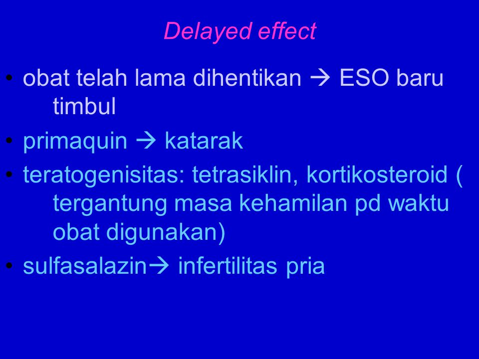 withdrawal syndrome setelah penggunaan jangka panjang  tiba2 dihentikan Kortikosteroid, narkotik, antihipertensi