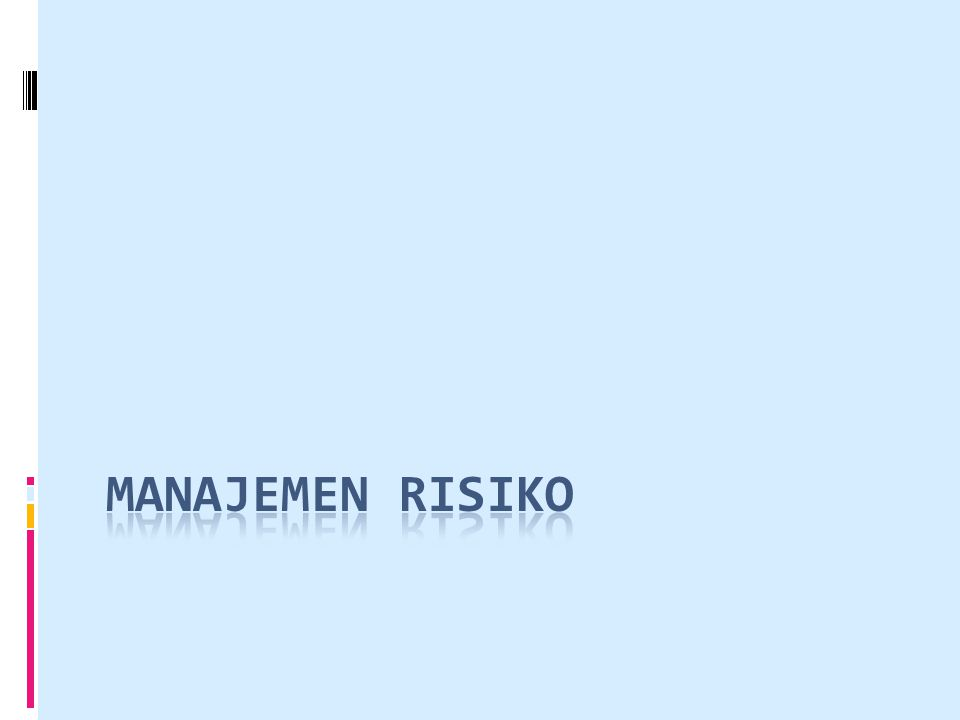 Kategori risiko dapat didefinisikan sebagai berikut :  Risiko Proyek risiko yang mempengaruhi jadwal atau sumber daya proyek.