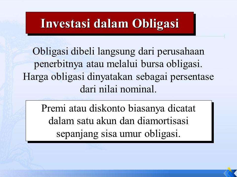 Obligasi dibeli langsung dari perusahaan penerbitnya atau melalui bursa obligasi. Harga obligasi dinyatakan sebagai persentase dari nilai nominal. Pre
