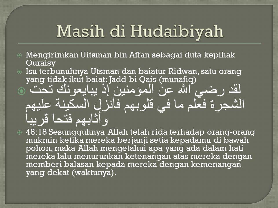 Antara Rasulullah dan pihak Quraisy yang diwakili Suhail bin Amr 1.