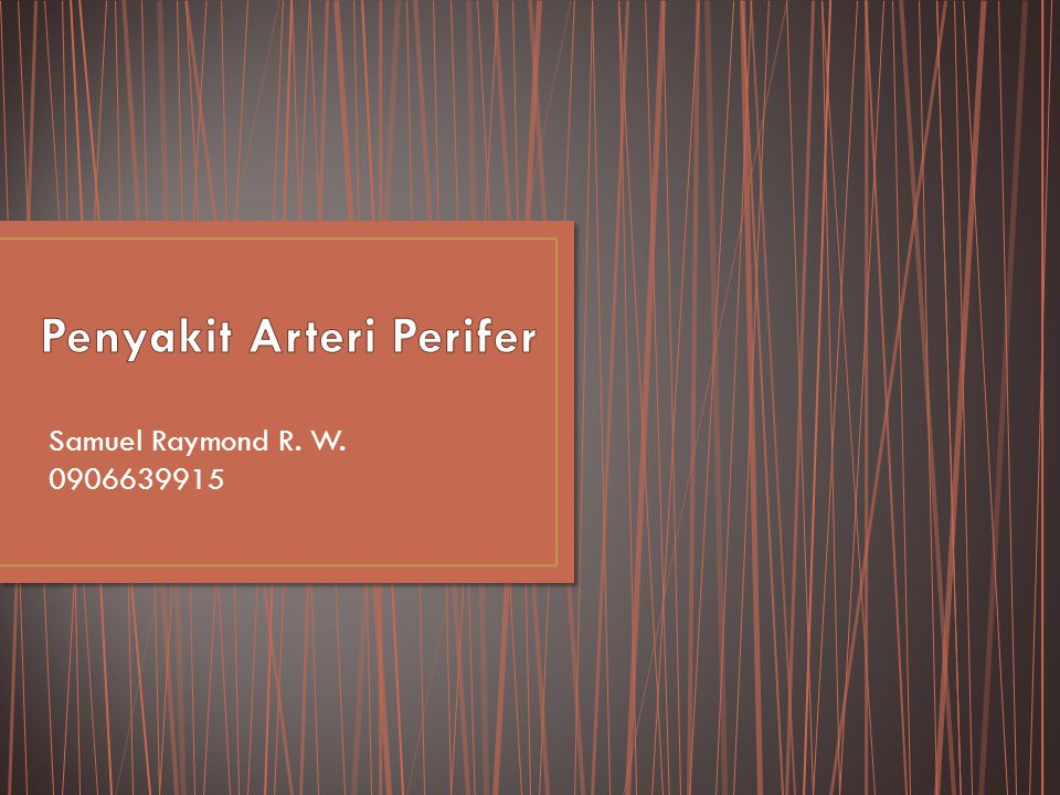 Samuel Raymond R. W. 0906639915