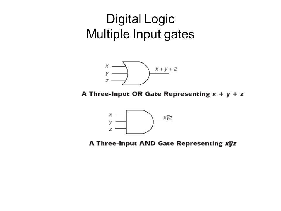Digital Logic Multiple Input gates