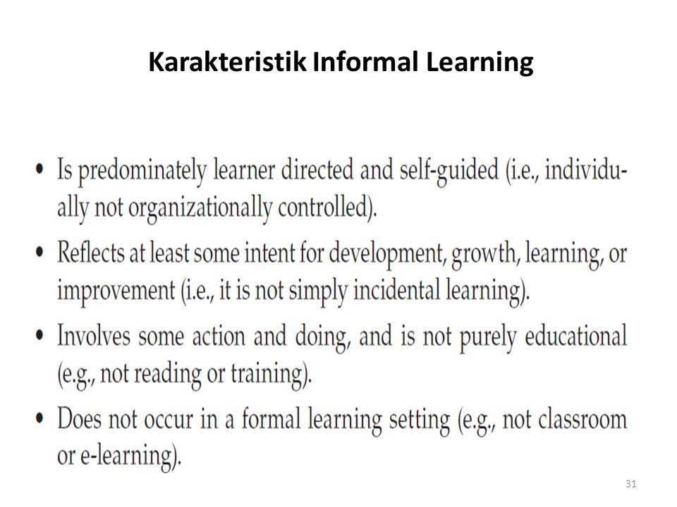 Karakteristik Informal Learning 31