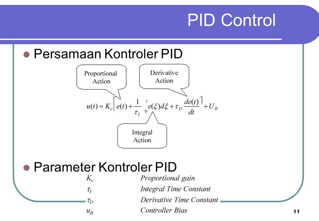 11 PID Control Persamaan Kontroler PID Parameter Kontroler PID