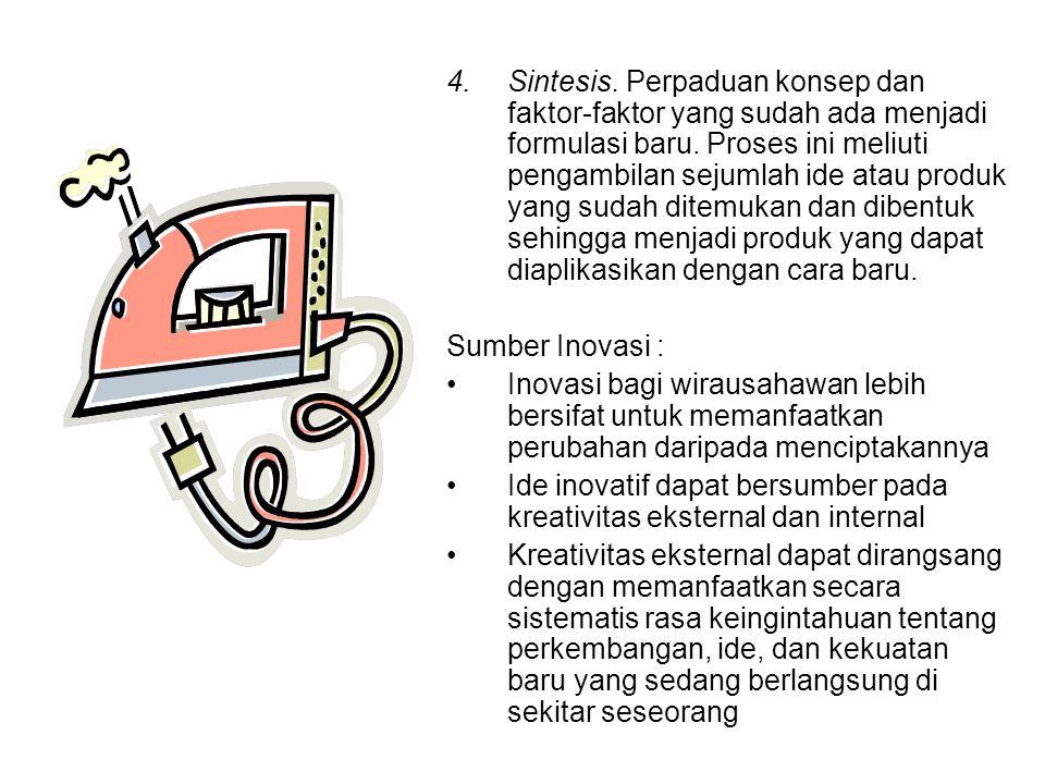 4.Sintesis.Perpaduan konsep dan faktor-faktor yang sudah ada menjadi formulasi baru.