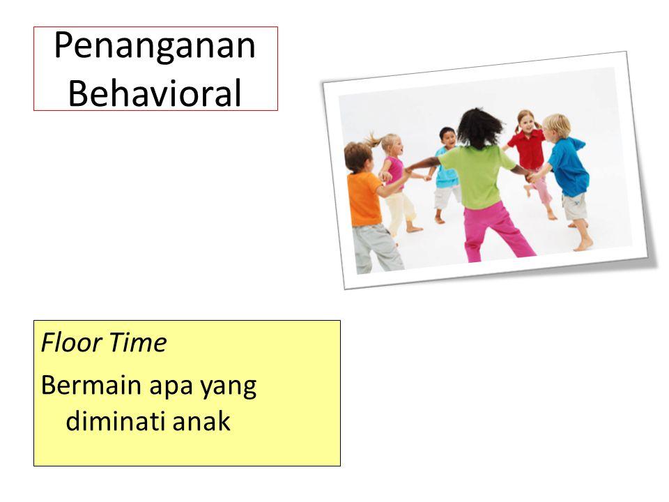 Penanganan Behavioral Floor Time Bermain apa yang diminati anak