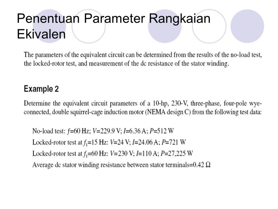 Penentuan Parameter Rangkaian Ekivalen