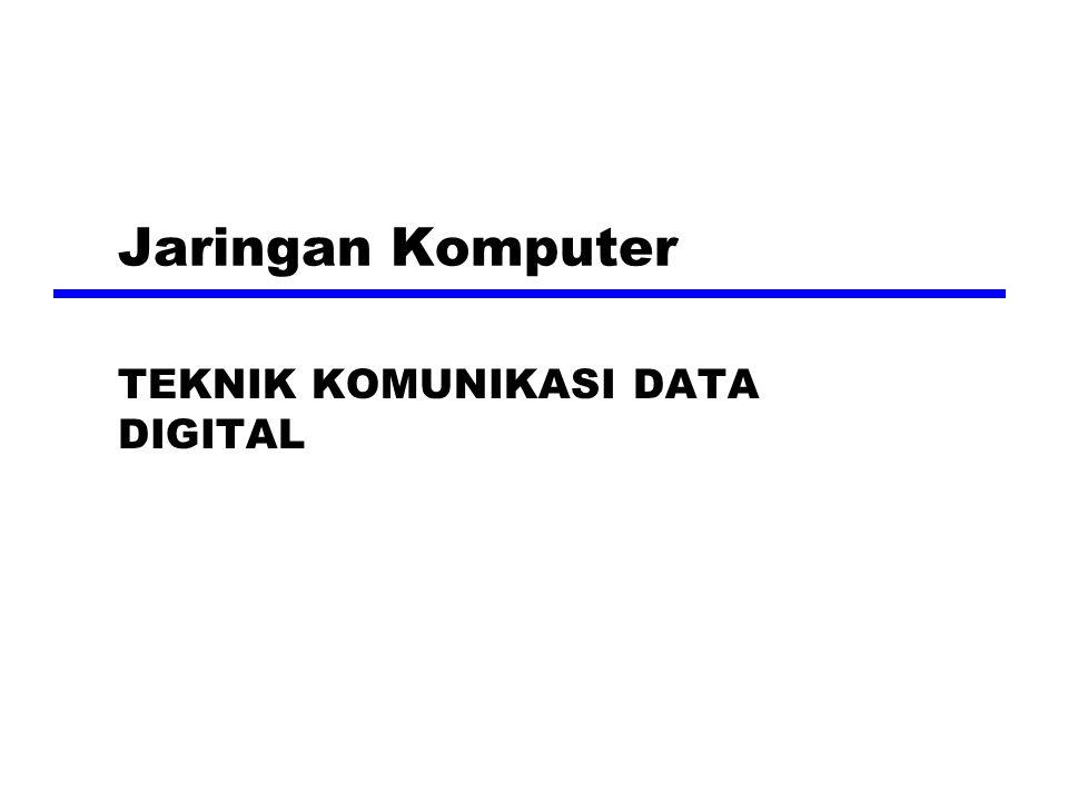 Masalah Data Digital zMasalah Timing (pewaktu) memerlukan suatu mekanisme untuk mensinkronkan transmitter dan receiver zDua solusi y Asinkron y Sinkron