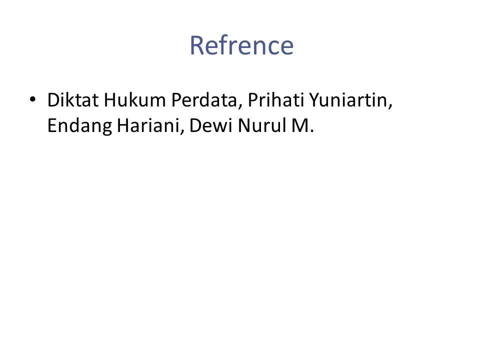 Refrence Diktat Hukum Perdata, Prihati Yuniartin, Endang Hariani, Dewi Nurul M.