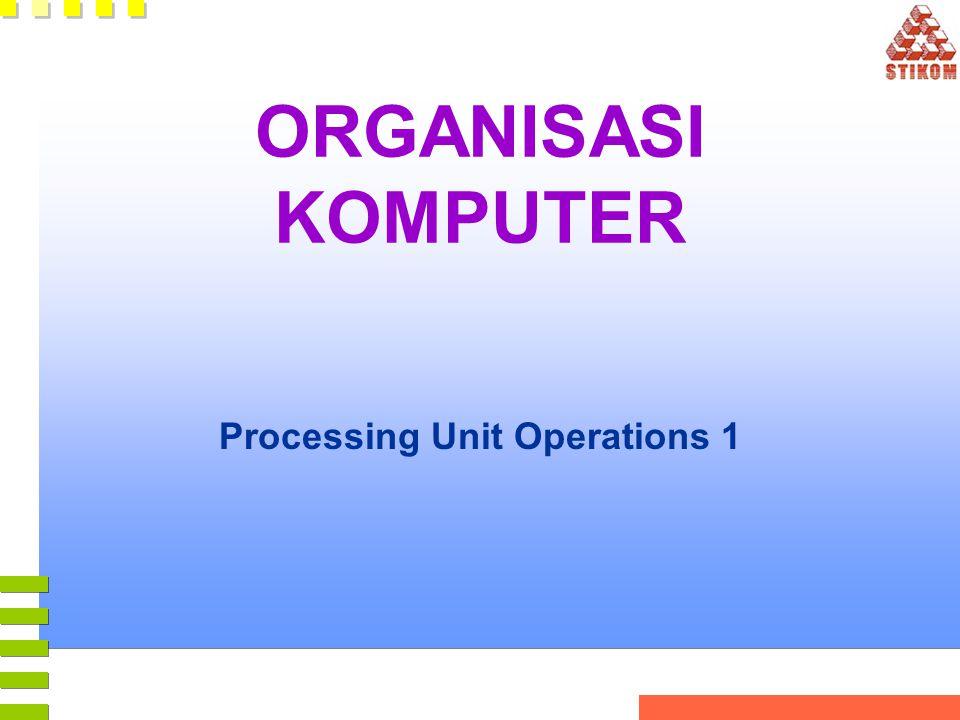 ORGANISASI KOMPUTER Processing Unit Operations 1