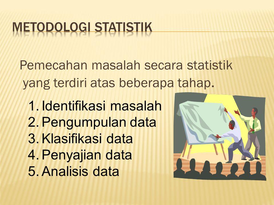 Pemecahan masalah secara statistik yang terdiri atas beberapa tahap.