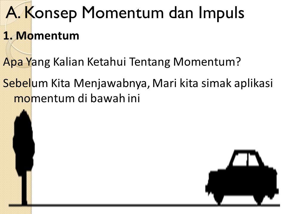 A. Konsep Momentum dan Impuls Apa Yang Kalian Ketahui Tentang Momentum.