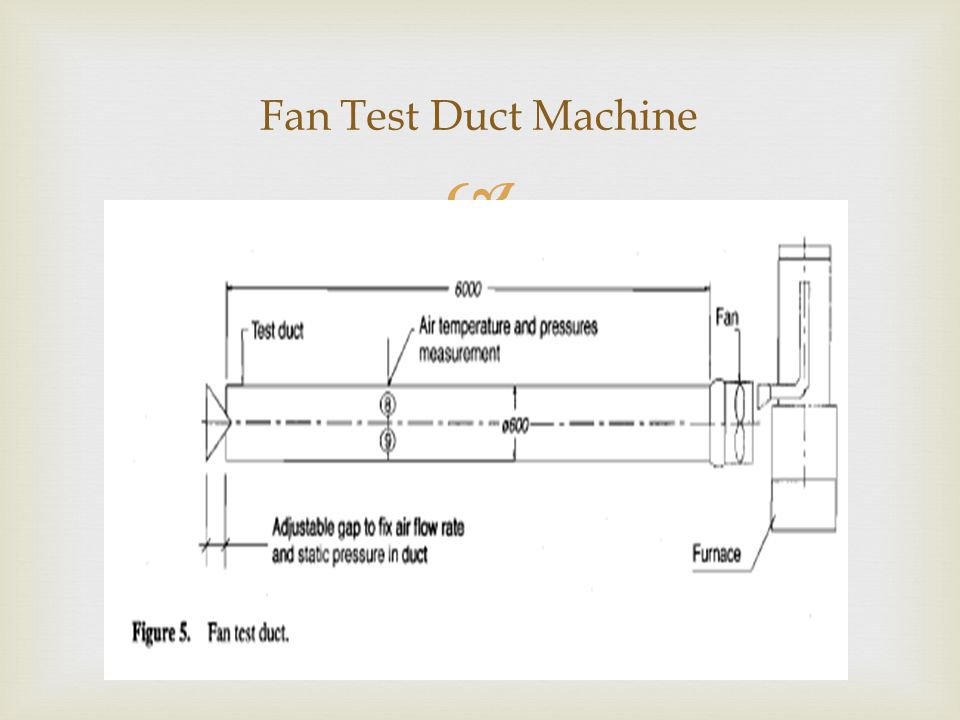  Fan Test Duct Machine