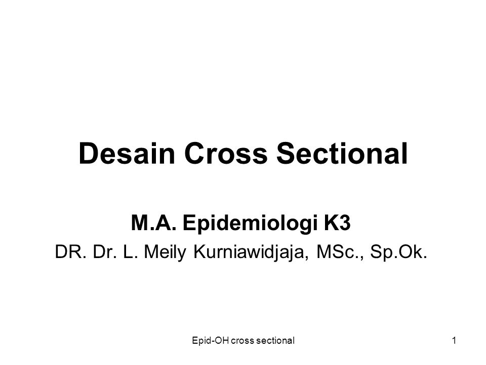Epid-OH cross sectional2 Pendahuluan Merupakan penelitian (Rs) epid.