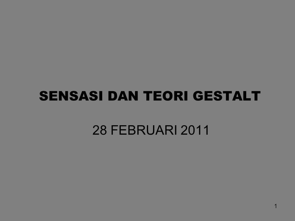1 28 FEBRUARI 2011 SENSASI DAN TEORI GESTALT