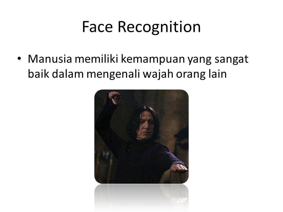 Face Recognition Manusia memiliki kemampuan yang sangat baik dalam mengenali wajah orang lain