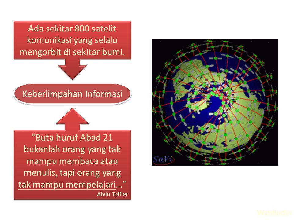 Ada sekitar 800 satelit komunikasi yang selalu mengorbit di sekitar bumi.