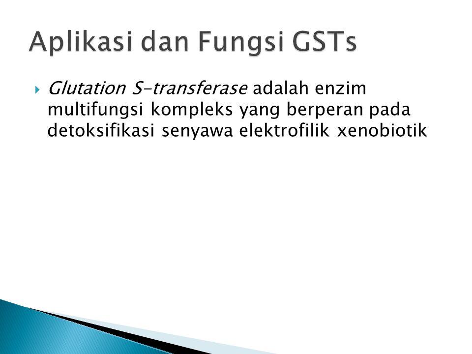  Glutation S-transferase adalah enzim multifungsi kompleks yang berperan pada detoksifikasi senyawa elektrofilik xenobiotik