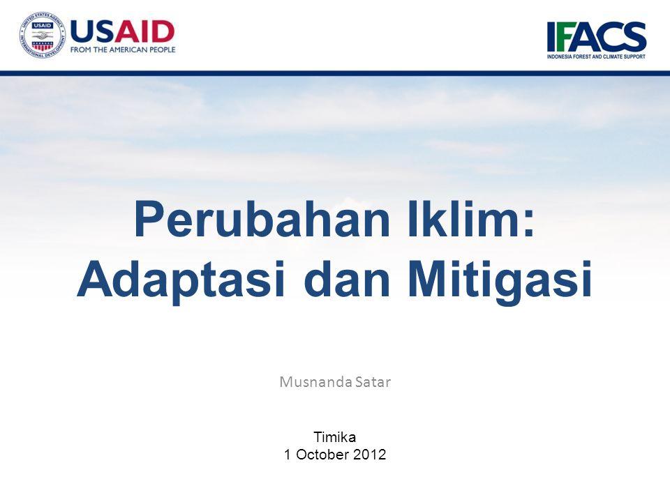 Musnanda Satar Timika 1 October 2012 Perubahan Iklim: Adaptasi dan Mitigasi