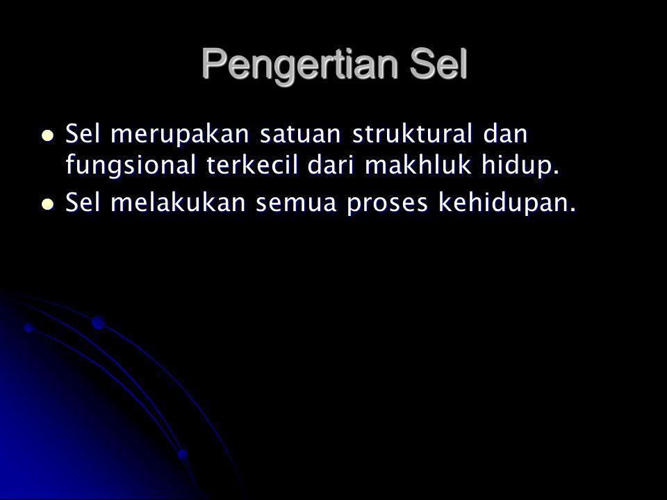 Pengertian Sel Sel merupakan satuan struktural dan fungsional terkecil dari makhluk hidup. Sel merupakan satuan struktural dan fungsional terkecil dar