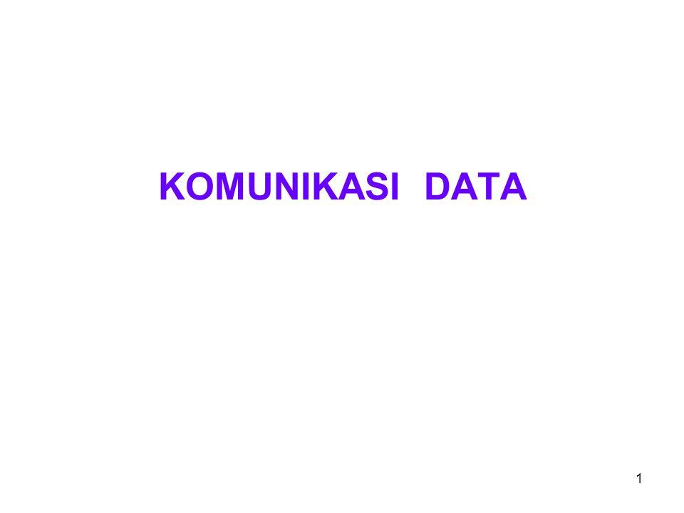 2 Pengertian komunikasi data Pemindahan data elektronik dari satu node ke node lain.