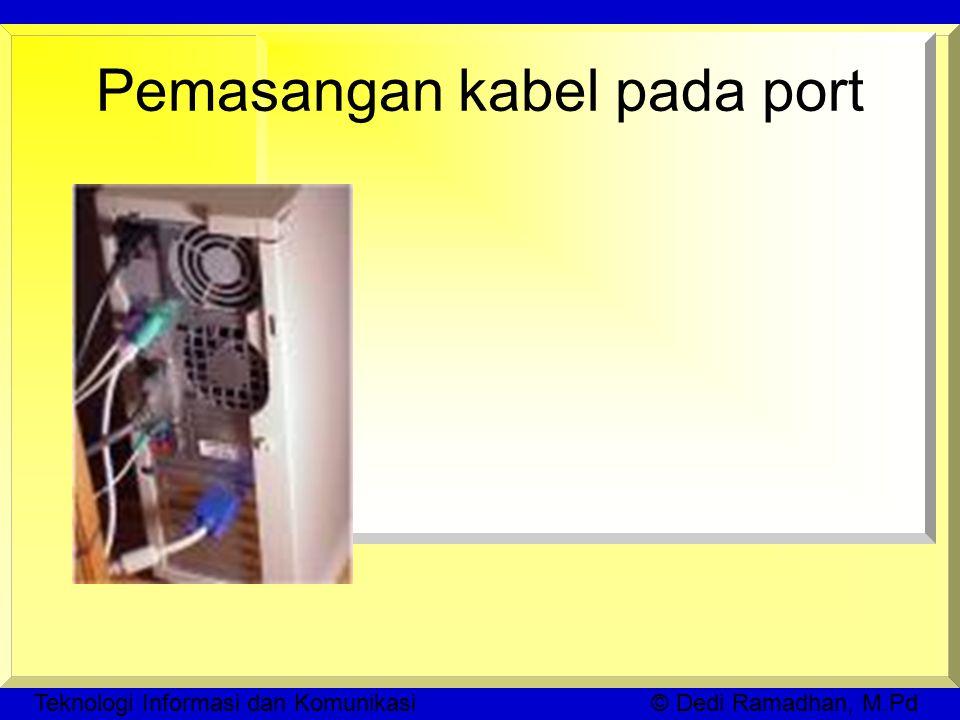Teknologi Informasi dan Komunikasi © Dedi Ramadhan, M.Pd Pemasangan kabel pada port