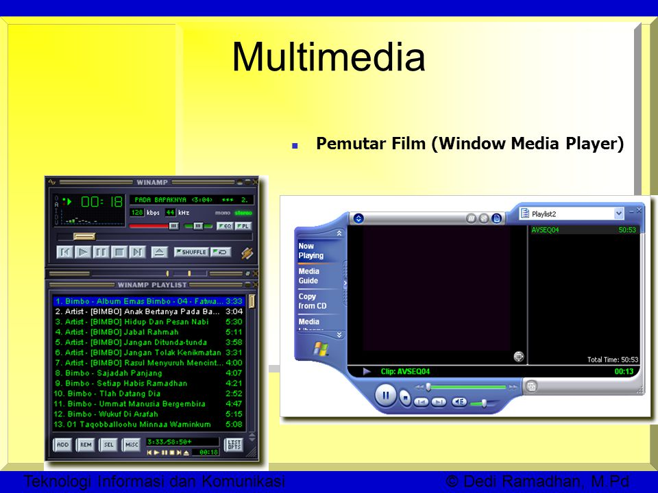 Multimedia Pemutar Film (Window Media Player)‏