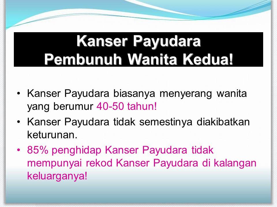 Kanser Payudara Pembunuh Wanita Kedua! Kanser Payudara biasanya menyerang wanita yang berumur 40-50 tahun! Kanser Payudara tidak semestinya diakibatka