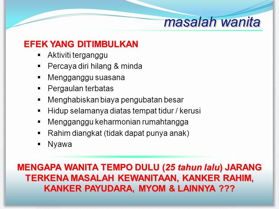 52 juta dari sekitar 115 juta perempuan Indonesia berisiko terkena kanser rahim (serviks) karena berbagai alasan, kata Dr.