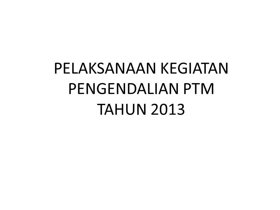 PELAKSANAAN KEGIATAN PENGENDALIAN PTM TAHUN 2013
