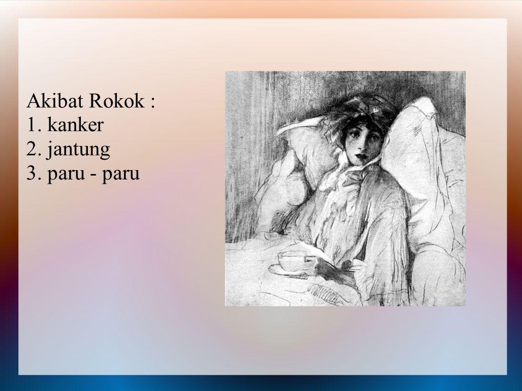 ROKOK Rokok dapat merusak kesehatan dan dapat juga menyebabkan kematian. Tidak hanya bagi yang merokok tapi juga bagi orang yang berada didekatnya jug