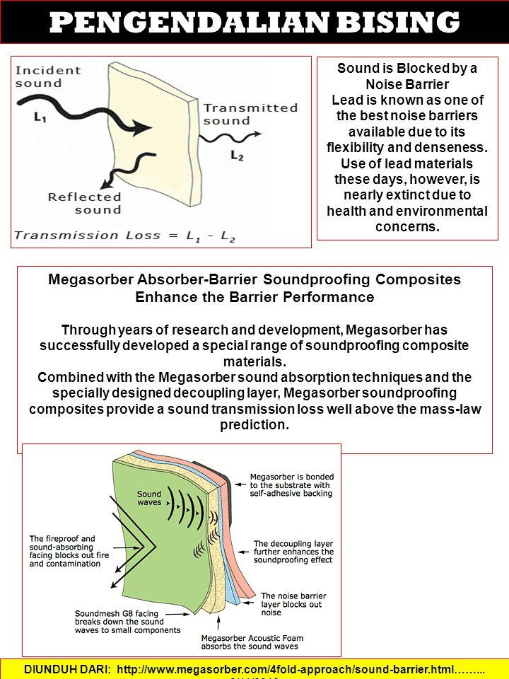 PENGENDALIAN BISING DIUNDUH DARI: http://www.megasorber.com/4fold-approach/sound-barrier.html……...