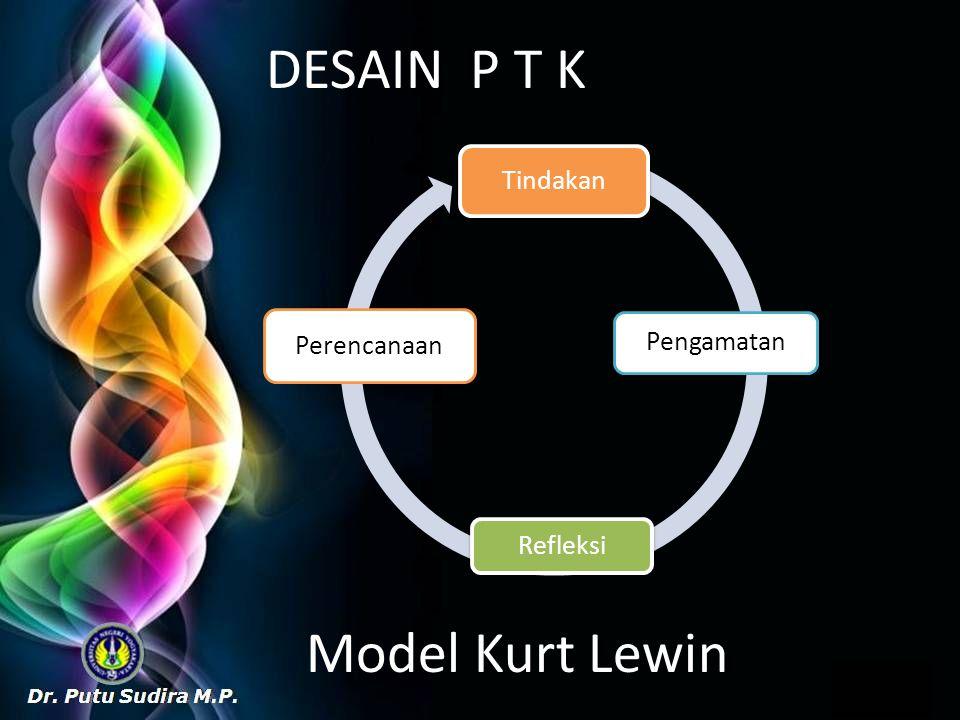 DESAIN P T K Model Kurt Lewin Tindakan Pengamatan Refleksi Perencanaan