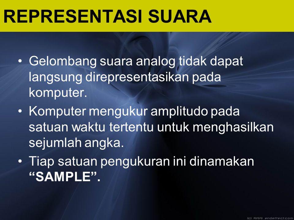 Gelombang suara analog tidak dapat langsung direpresentasikan pada komputer. Komputer mengukur amplitudo pada satuan waktu tertentu untuk menghasilkan