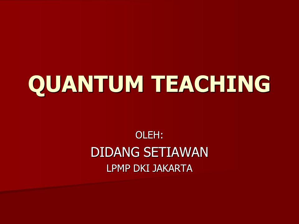 QUANTUM TEACHING OLEH: DIDANG SETIAWAN LPMP DKI JAKARTA