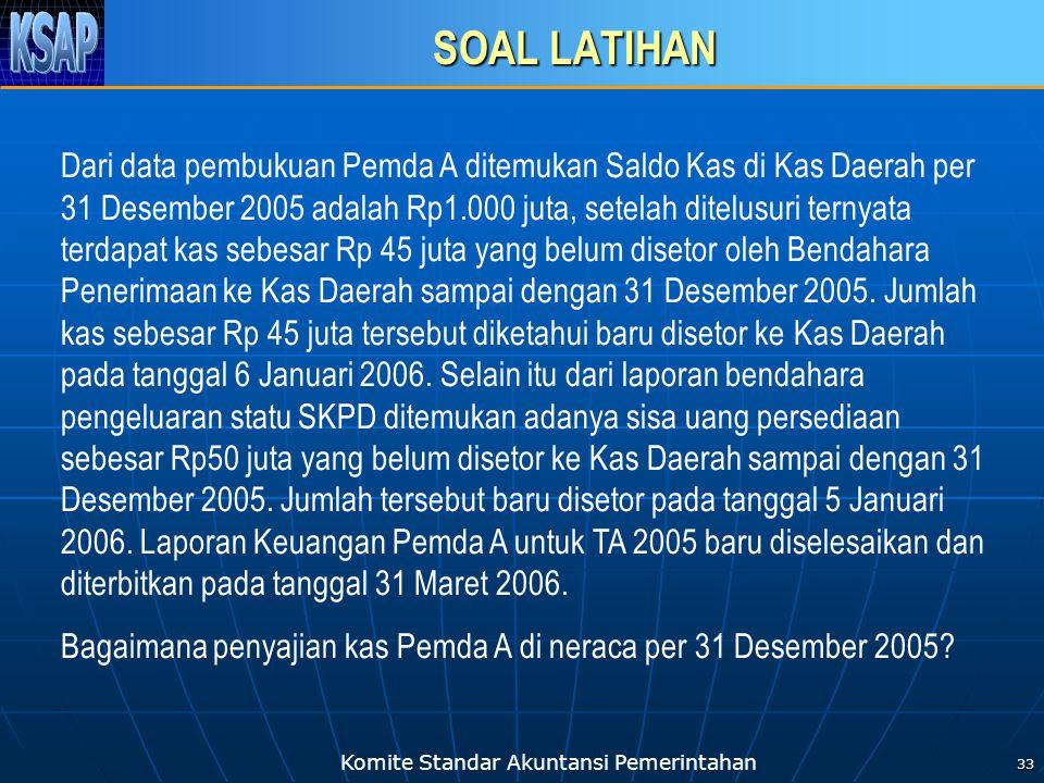 Komite Standar Akuntansi Pemerintahan 34 TERIMA KASIH Komite Standar Akuntansi Pemerintahan (KSAP) Gedung Perbendaharaan II, Lt.