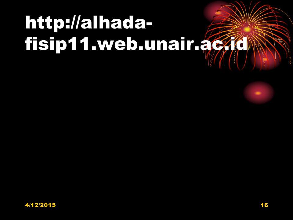 http://alhada- fisip11.web.unair.ac.id 4/12/201516