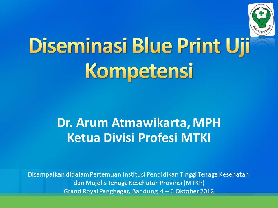 Dr. Arum Atmawikarta, MPH Ketua Divisi Profesi MTKI Disampaikan didalam Pertemuan Institusi Pendidikan Tinggi Tenaga Kesehatan dan Majelis Tenaga Kese