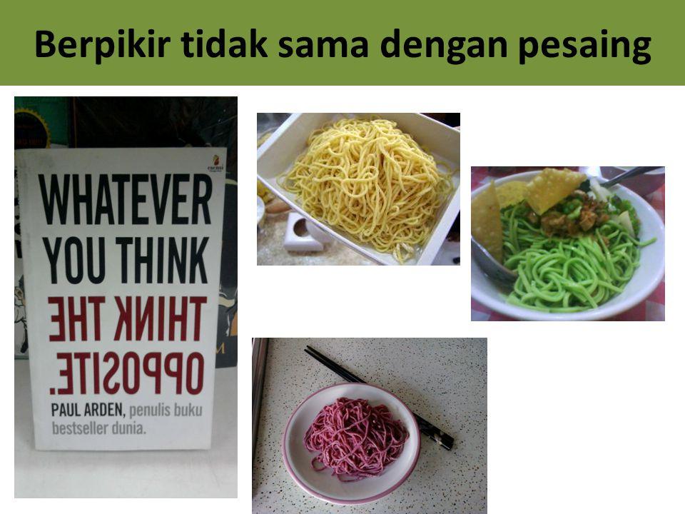 Berpikir tidak sama dengan pesaing